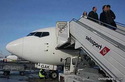 Boeing 737-500 UIA in Frankfurt Airport