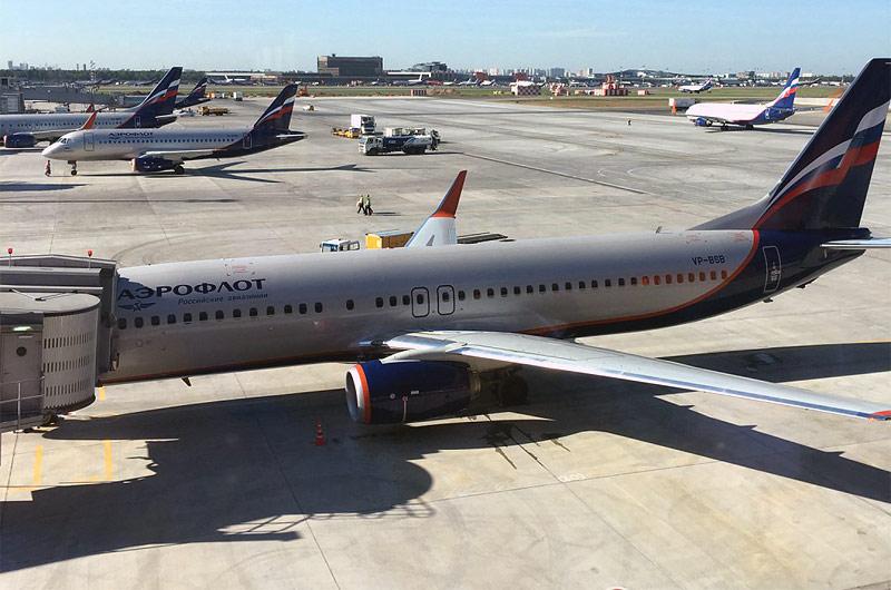 Москва (SVO) – Минеральные-Воды (MRV) на Boeing 737-800 авиакомпании Аэрофлот, бизнес класс, терминал В, плюс обзор бизнес-зала «Рублев»