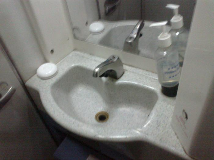 Bathroom of Yakovlev Yak-42