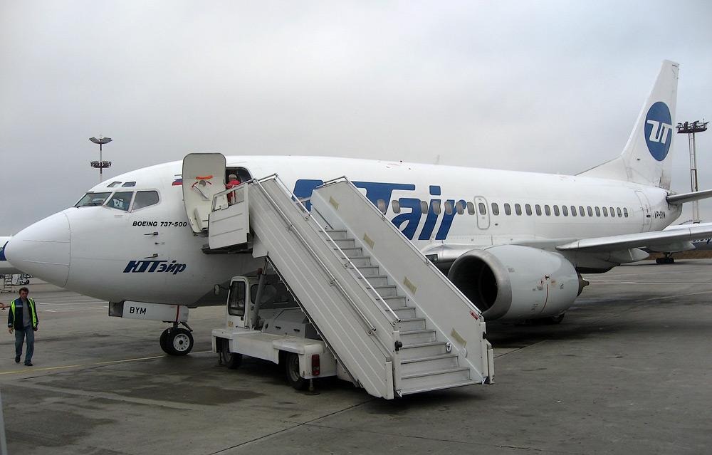 Domestic flight in Russia: Krasnoyarsk–Moscow by UTair