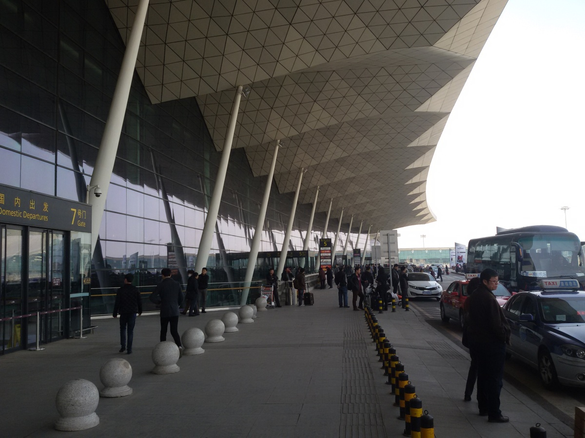 Вход в аэровокзал аэропорта Шэньян Таосянь