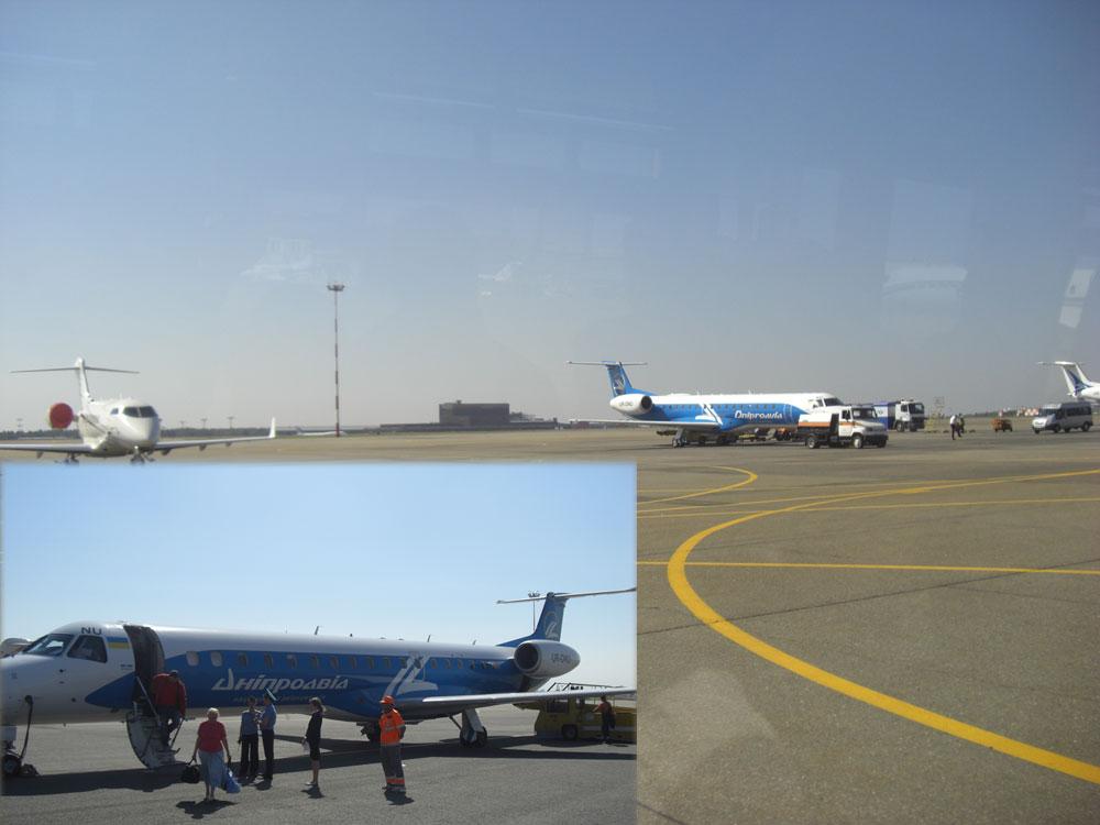 Embraer ERJ145 Днеправиа в аэропорту Шереметьево