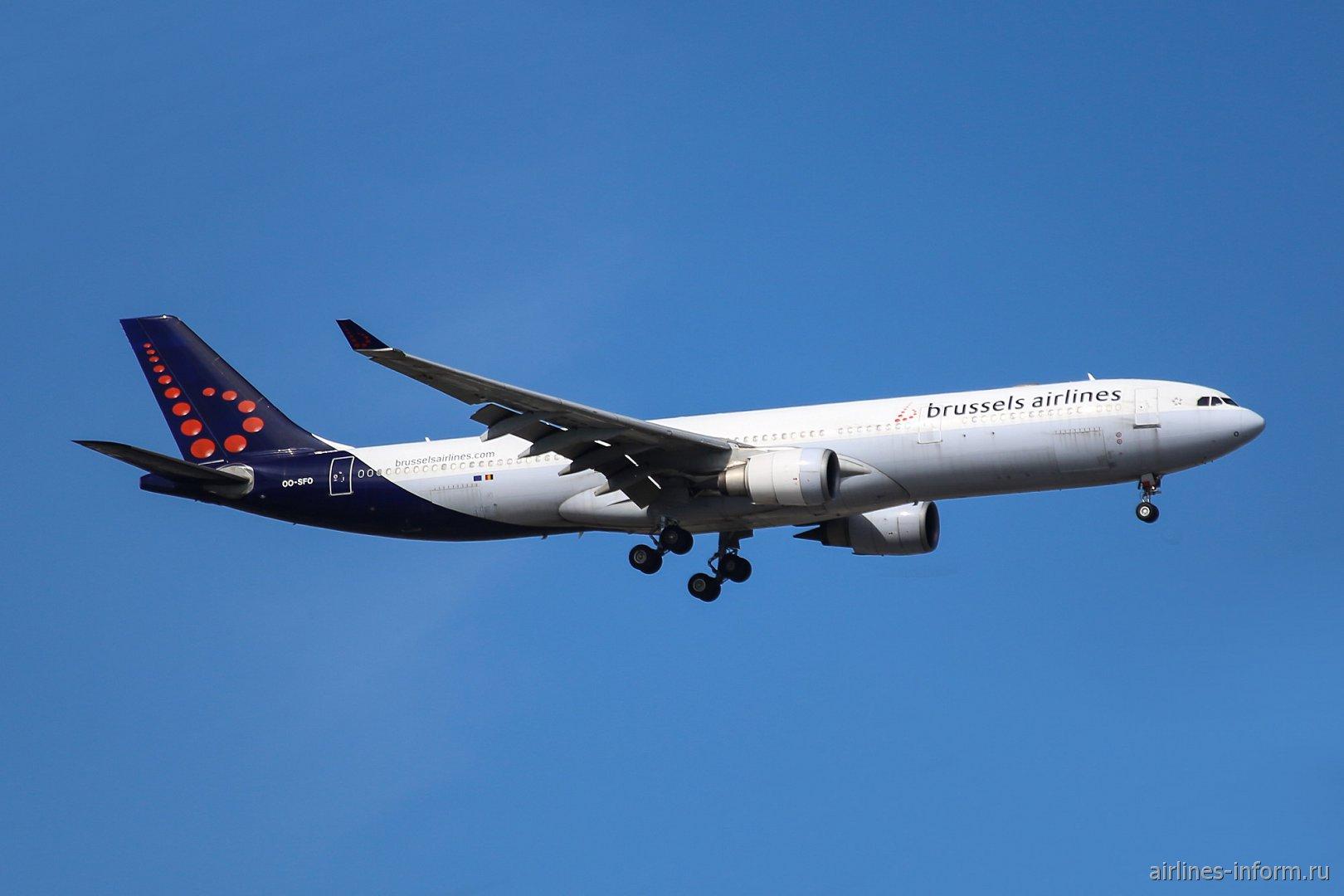 Самолет Airbus A330-300 Брюссельских авиалиний