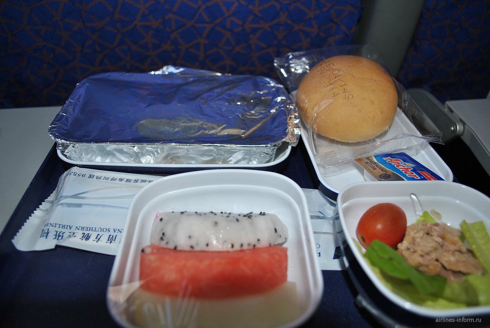 Питание на рейсе Ханой-Гуанчжоу China Southern Airlines