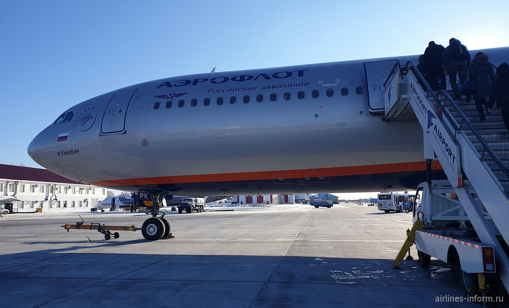 Банальный  дальняк: Южно-Сахалинск (UUS) - Москва (SVO)  Airbus A330-300 VQ-BPK I.Kulibin  а/к Аэрофлот. (эконом)