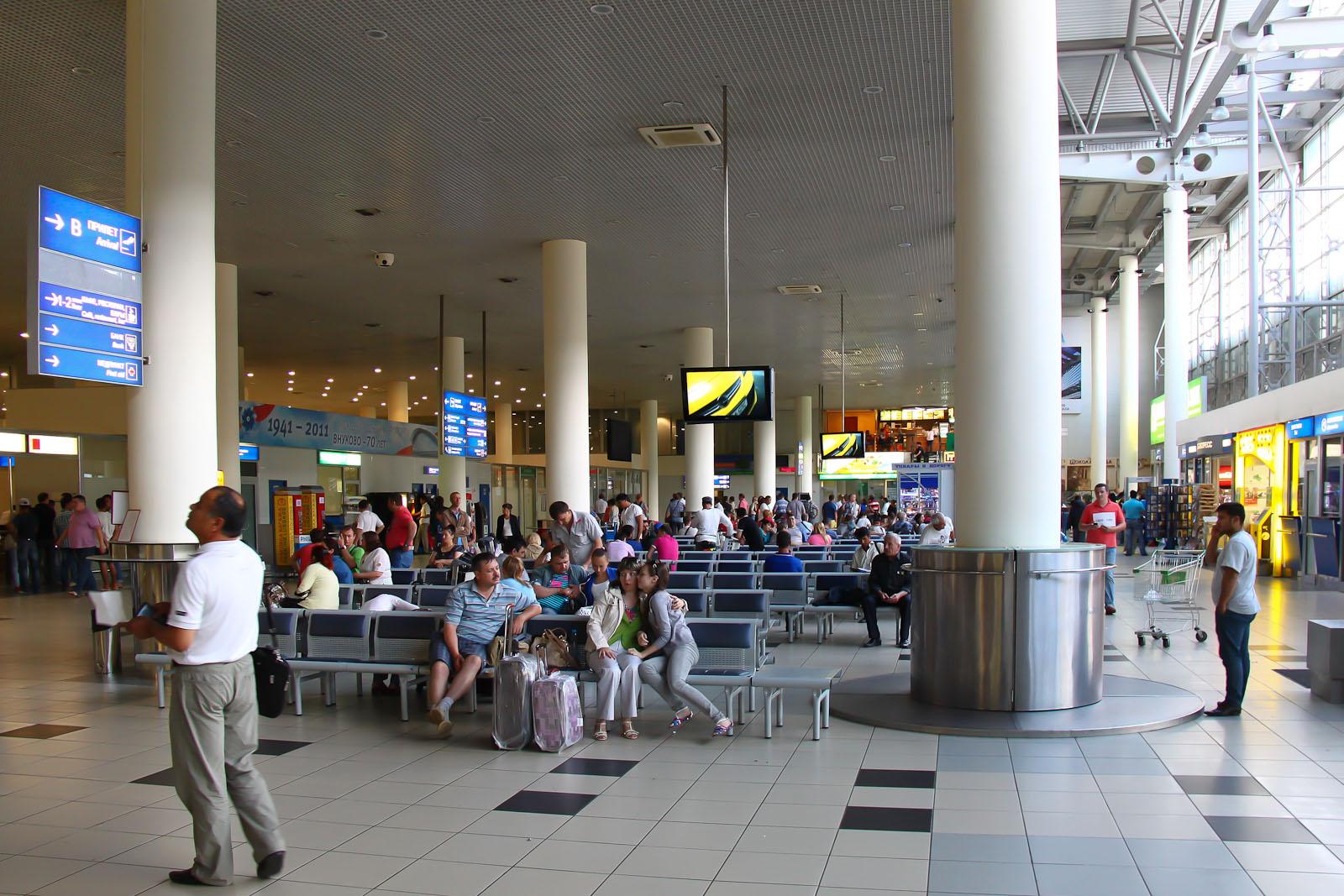 Зал ожидания в терминале Б аэропорта Внуково