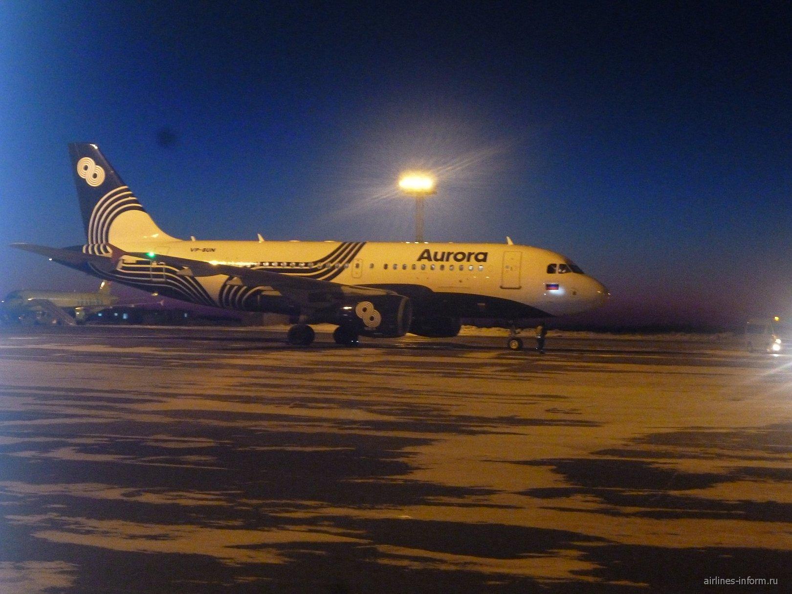 Airbus A319 авиакомпании Аврора