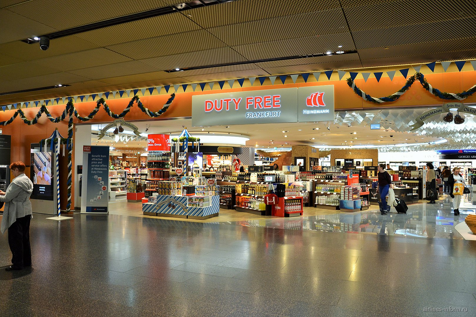 Магазин Duty Free в терминале 1 аэропорта Франкфурт