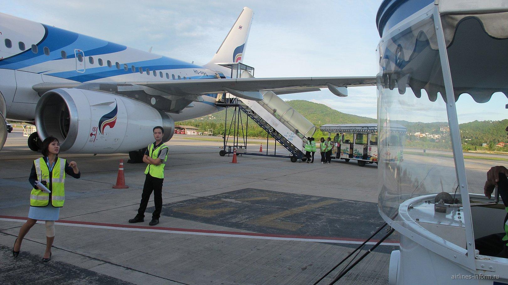 Самолет Эрбас А-319 Бангкокских авиалиний