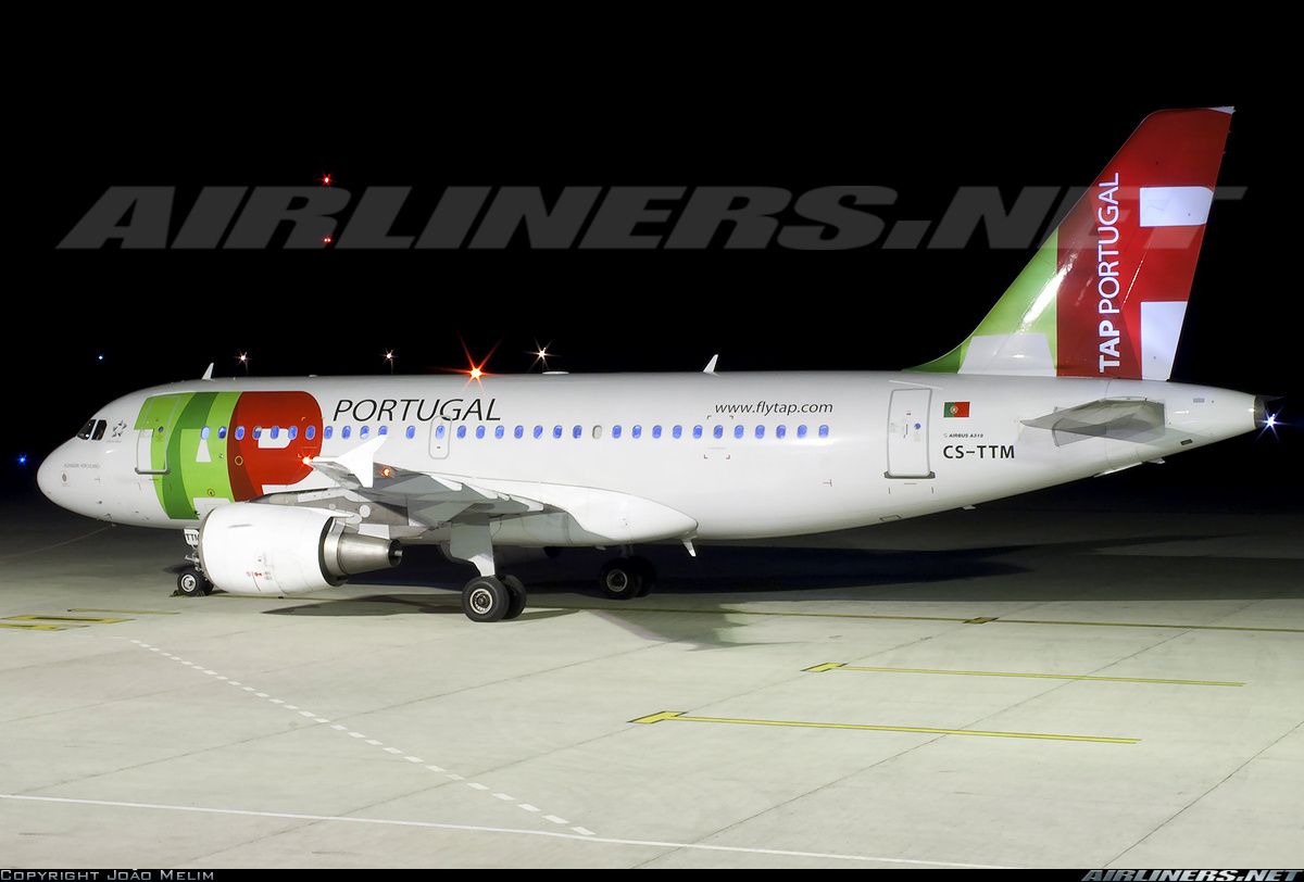 Самолет Airbus A319 авиакомпании TAP Portugal