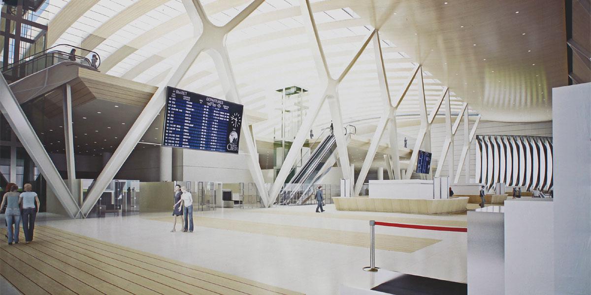 New terminal of Krasnoyarsk airport