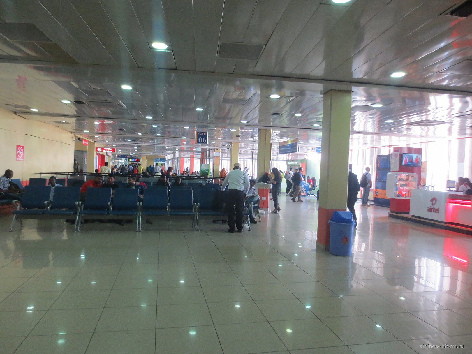 Чистая зона в аэропорту Найроби Джомо Кеньятта