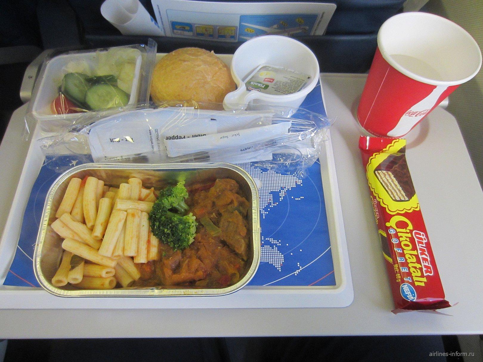 Бортовое питание на рейсе Екатеринбург-Анталья авиакомпании Трансаэро
