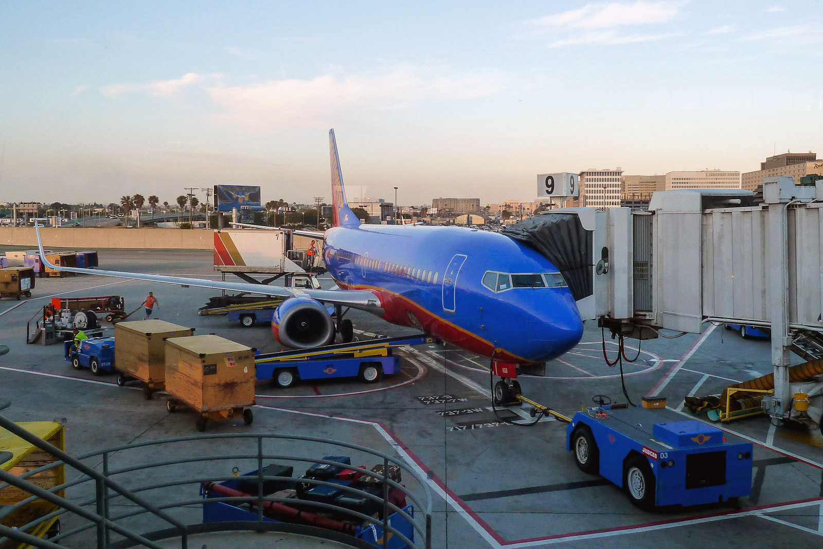Southwest Boeing 737 at Los Angeles airport