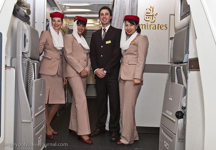 Crew of Airbus A380 Emirates