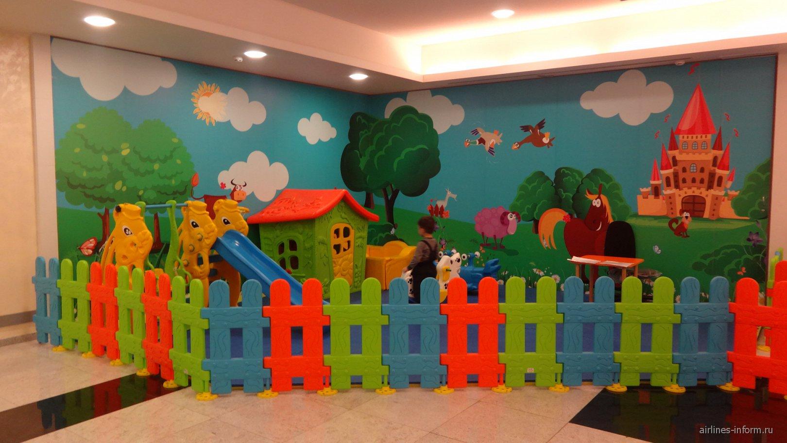 Детская игровая площадка в аэропорту Кишинев