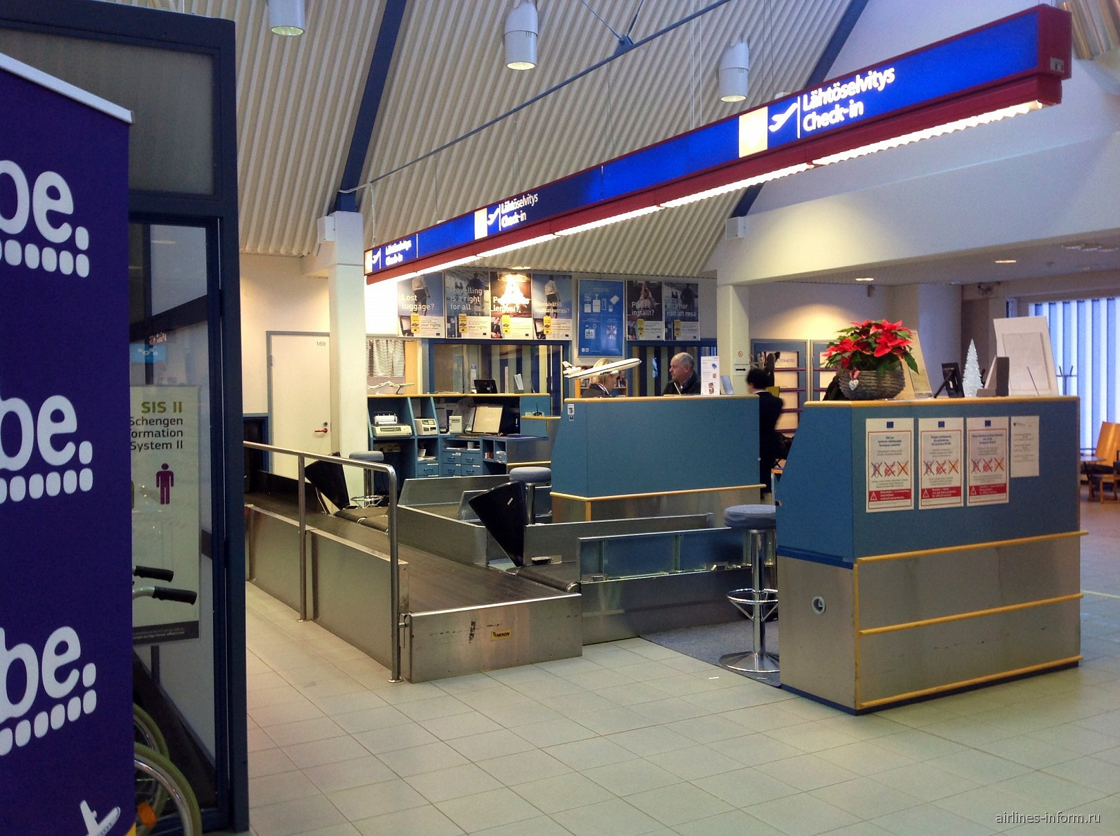 Стойки регистрации в аэропорту Каяни