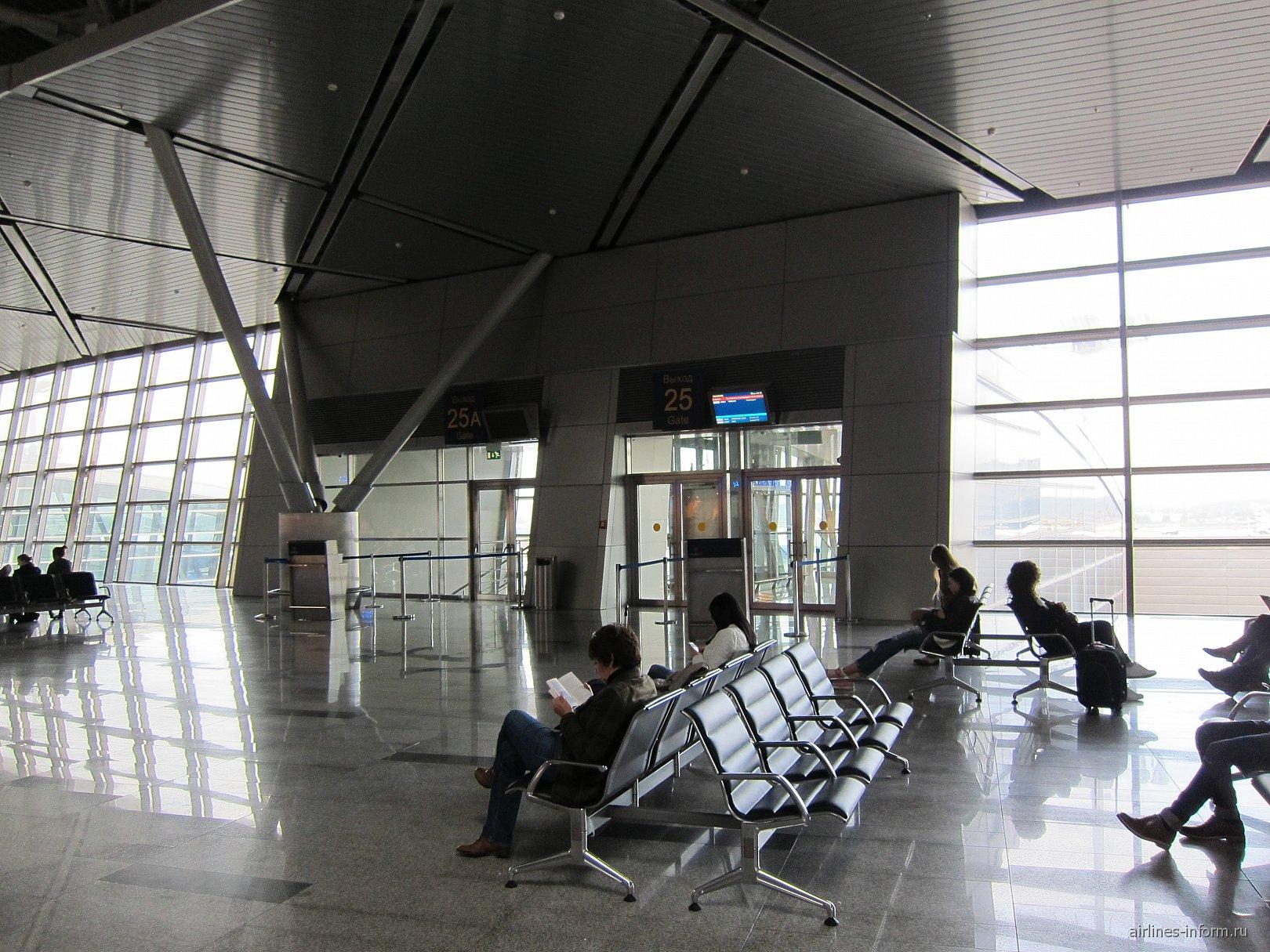 Выход на посадку в терминале А аэропорта Внуково