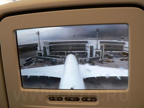Камера на хвосте самолета Airbus A380