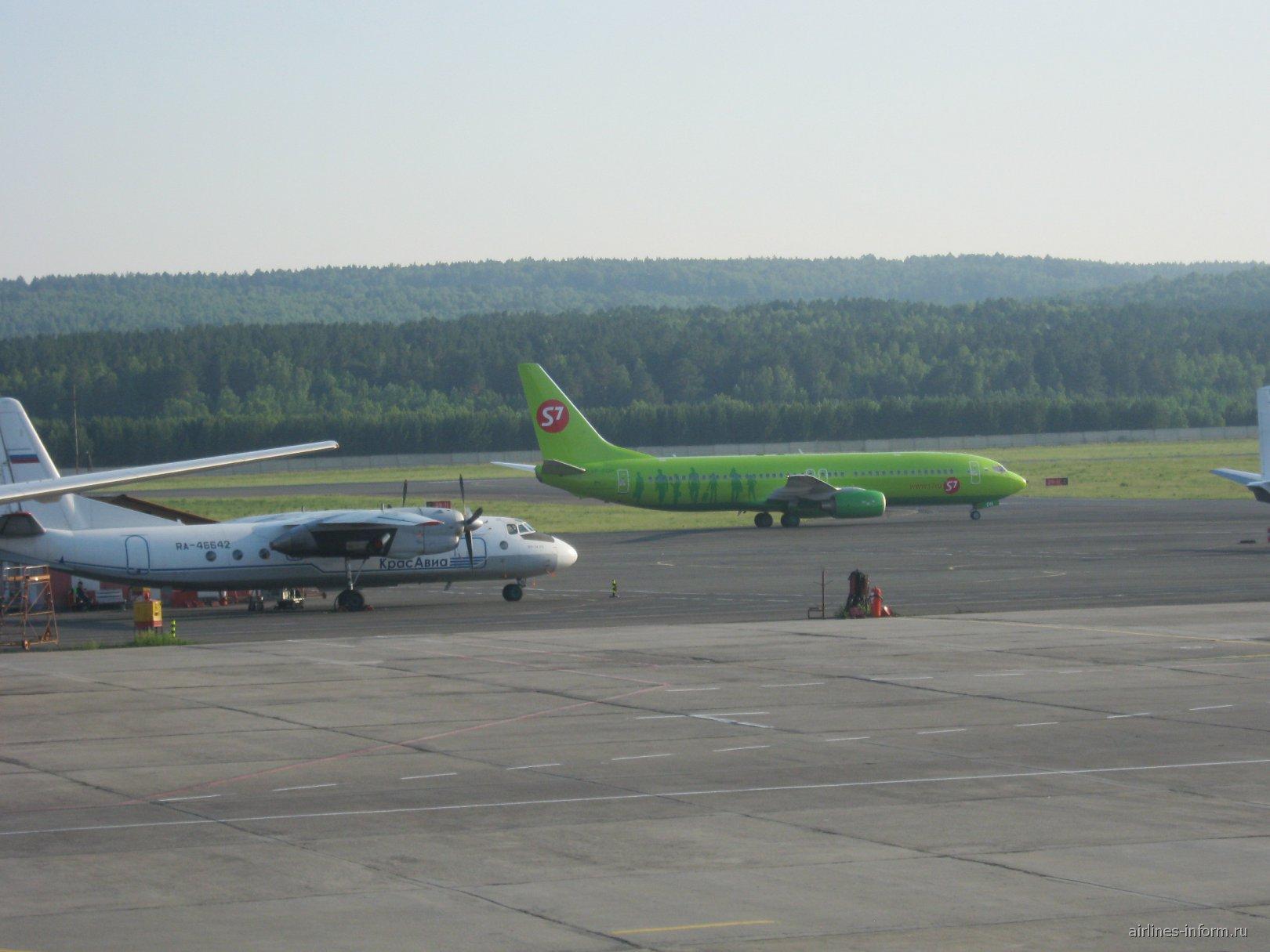 В аэропорту Емельяново города Красноярска