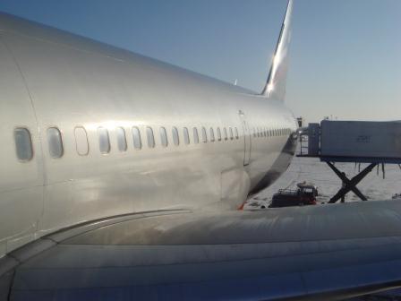 Боинг-767-300 Аэрофлота в Южно-Сахалинске