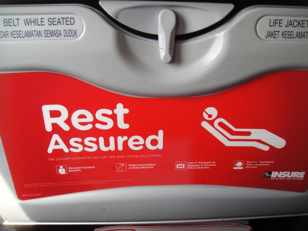 Passenger seat in AirAsia Airbus A320