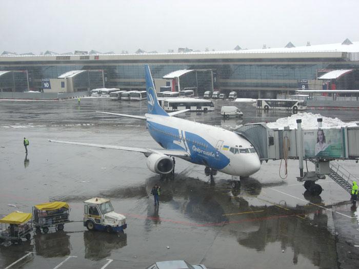 Из Москвы в Киев рейсом АэроСвита на самолете Днеправиа