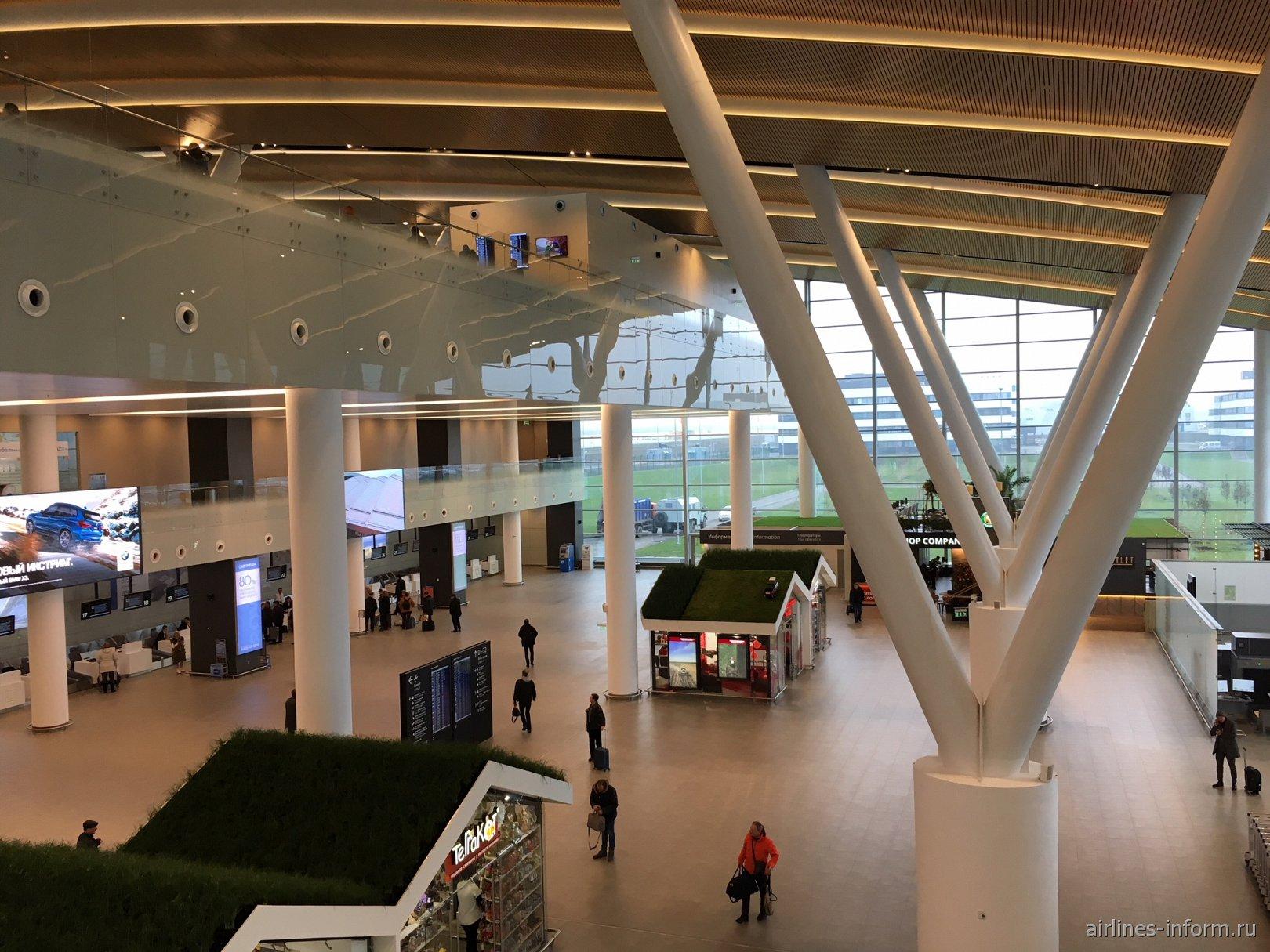 В пассажирском терминале аэропорта Платов в Ростове-на-Дону