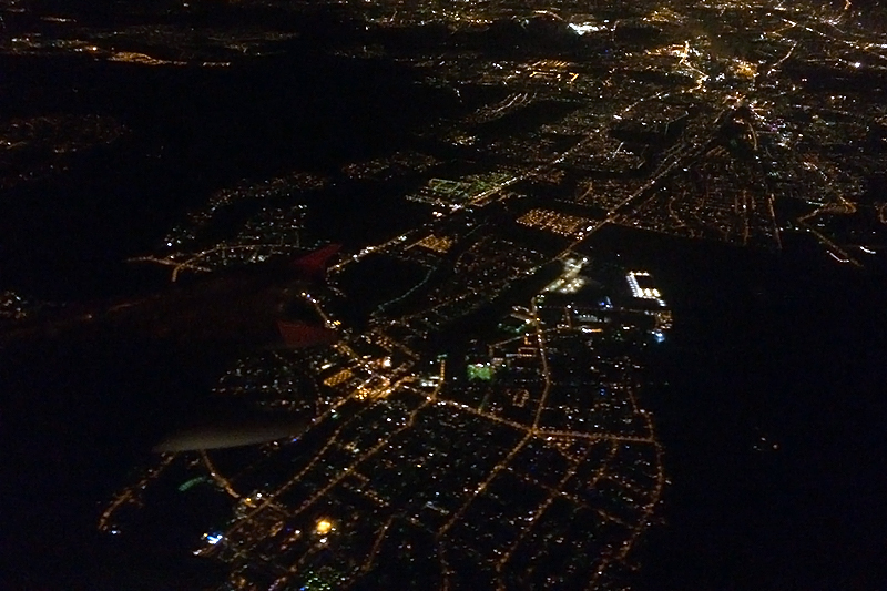 Вид на Берлин из самолета