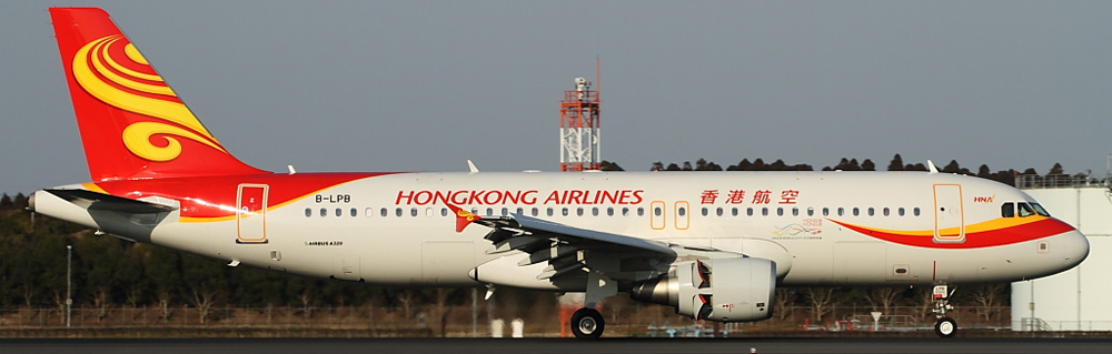 Airbus A320 авиакомпании Hong Kong Airlines