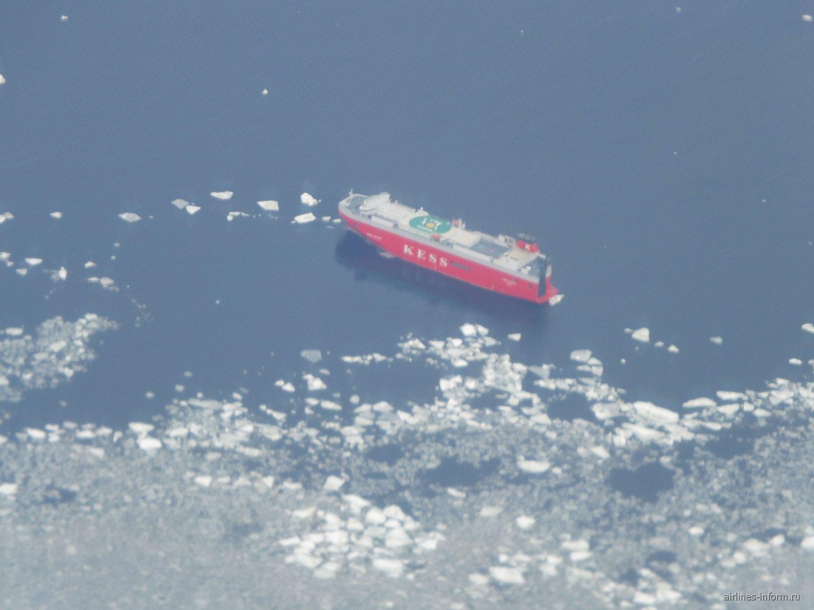 Вид из самолета на Финский залив