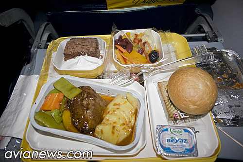Meal on Pegasus Airlines flight