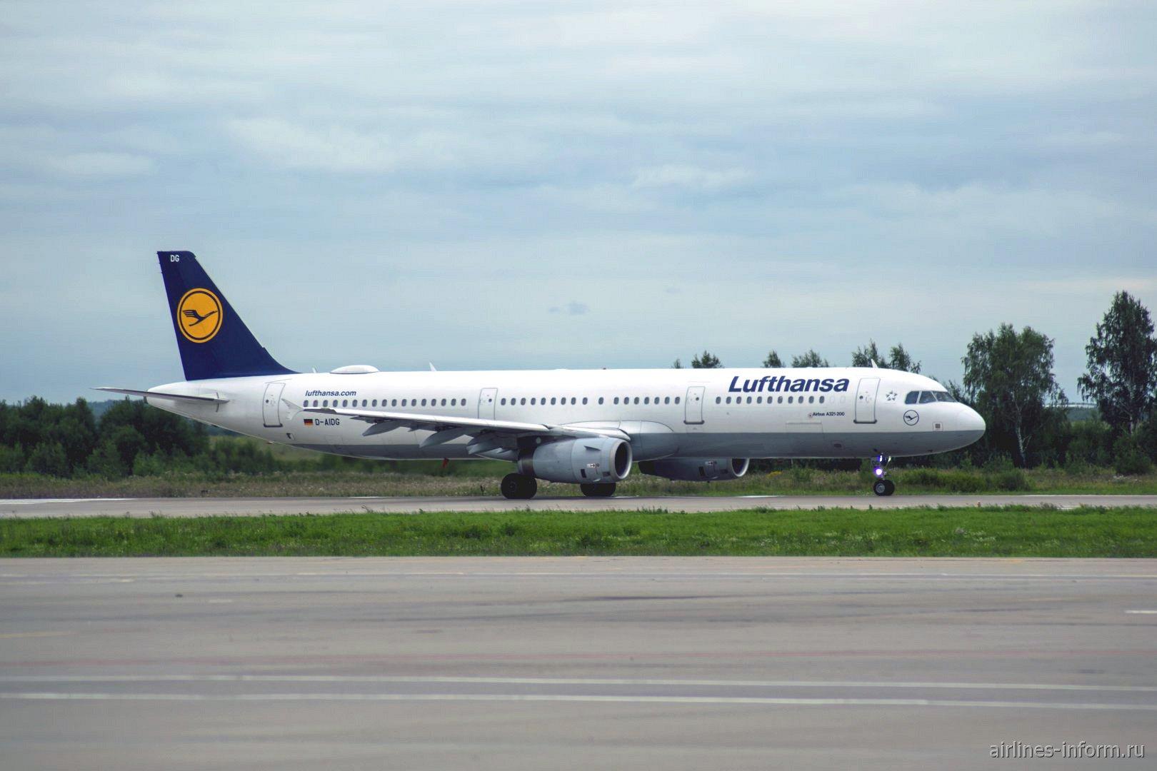 Фото Airbus A321 авиакомпании Lufthansa в аэропорту Домодедово