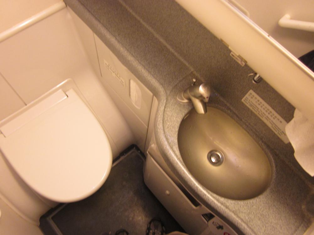 Туалет самолета Боинг-737-800 Гонконгских авиалиний