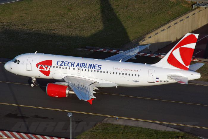 New livery of CSA Czech Airilines