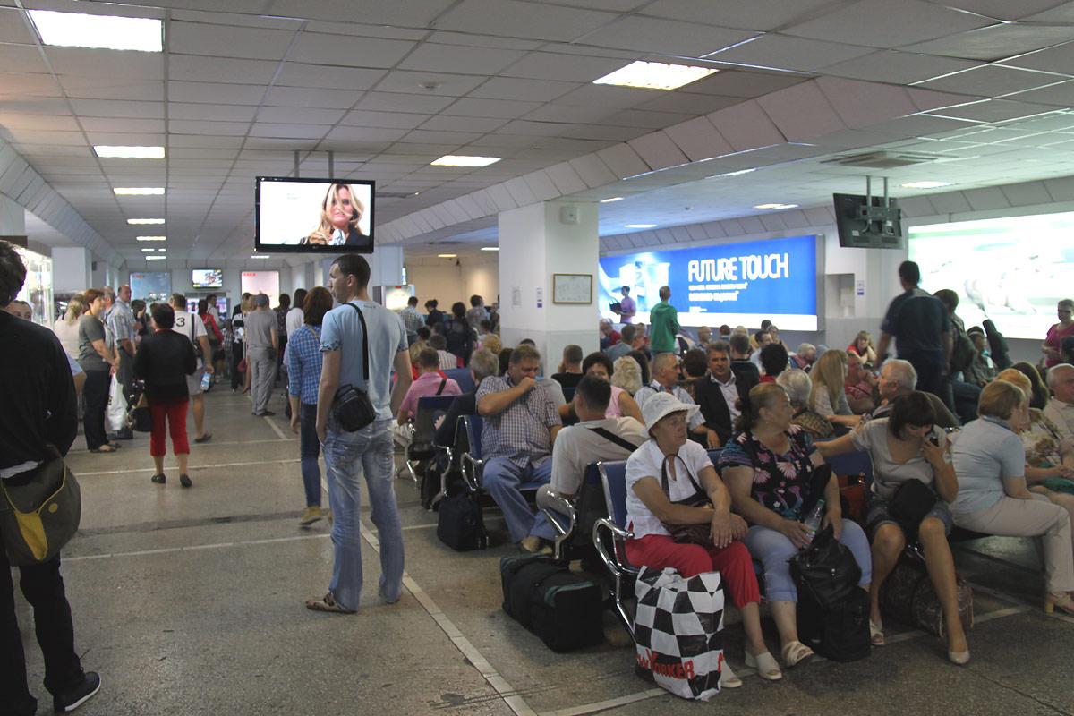 Накопитель в красноярском аэропорту Емельяново