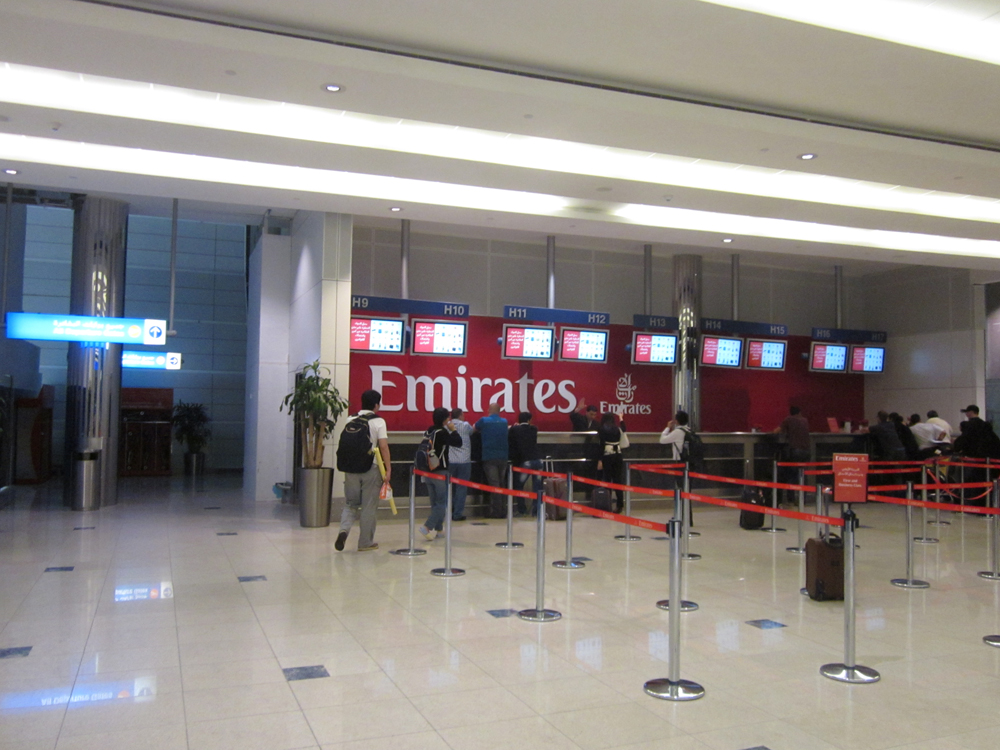 Представительство авиакомпании Emirates в аэропорту Дубай