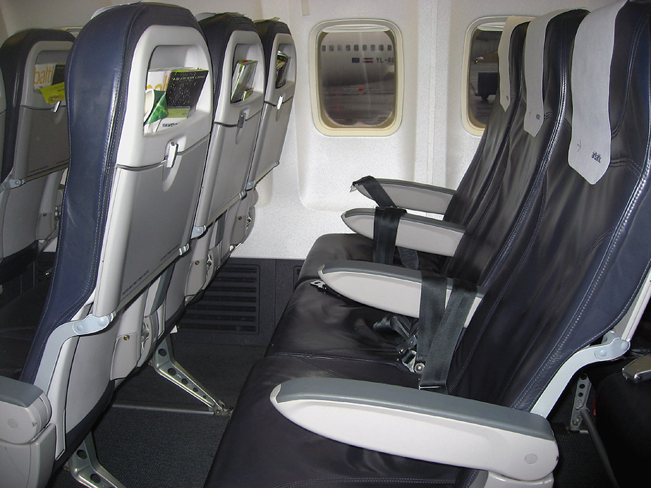 Economy class in Boeng 737-300 of airBaltic airline