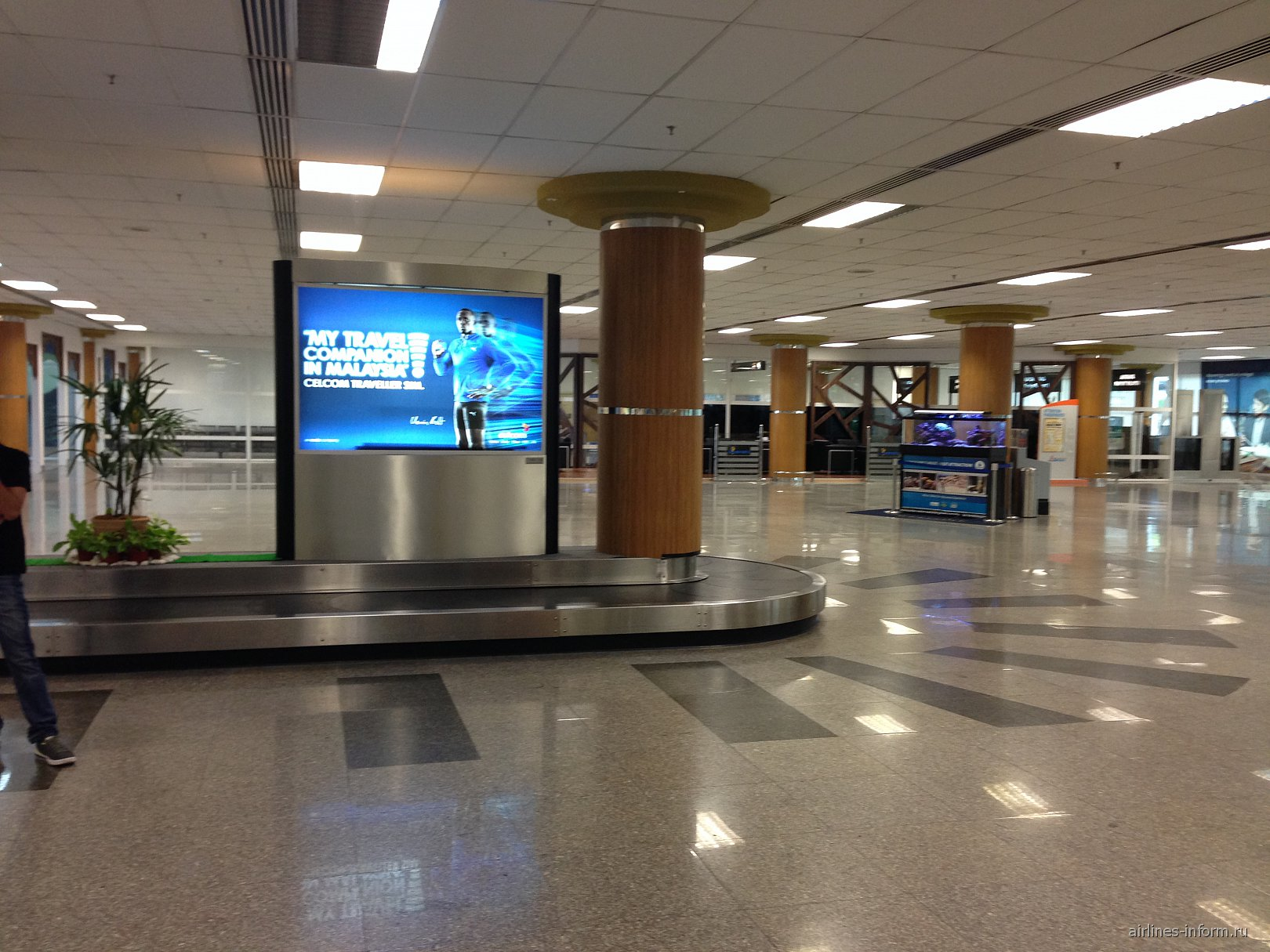 Зал выдачи багажа в аэропорту Лангкави