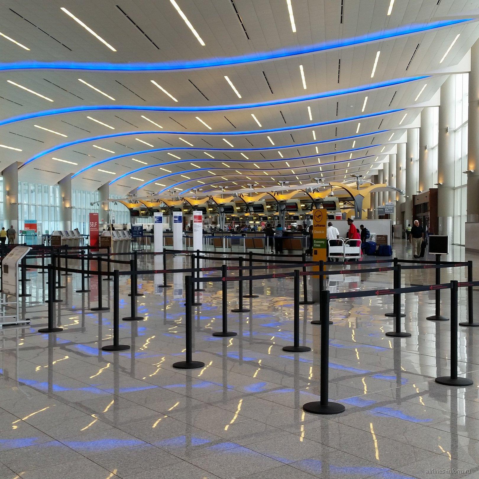 Стойки регистрации в аэропорту Хартсфилд-Джексон в Атланте