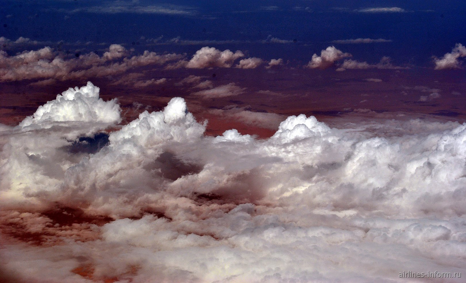 Облачность над пустыней Сахара в Мавритании
