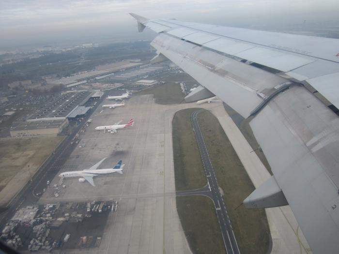 Посадка в аэропорту Парижа
