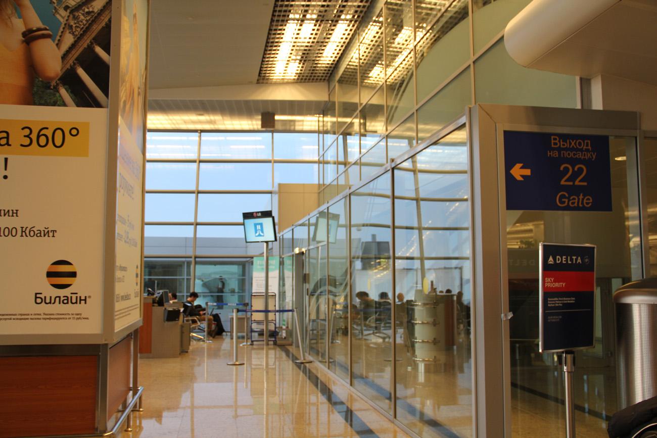 В терминале Д аэропорта Москва Шереметьево