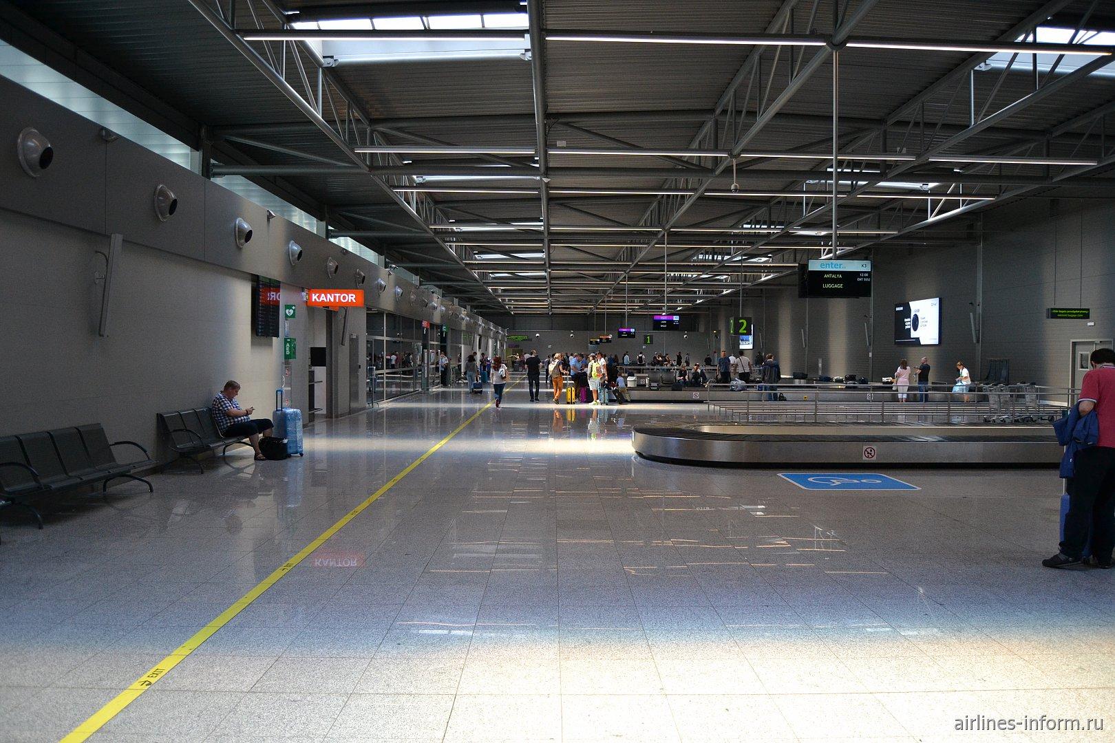Зона выдачи багажа в аэропорту Катовице
