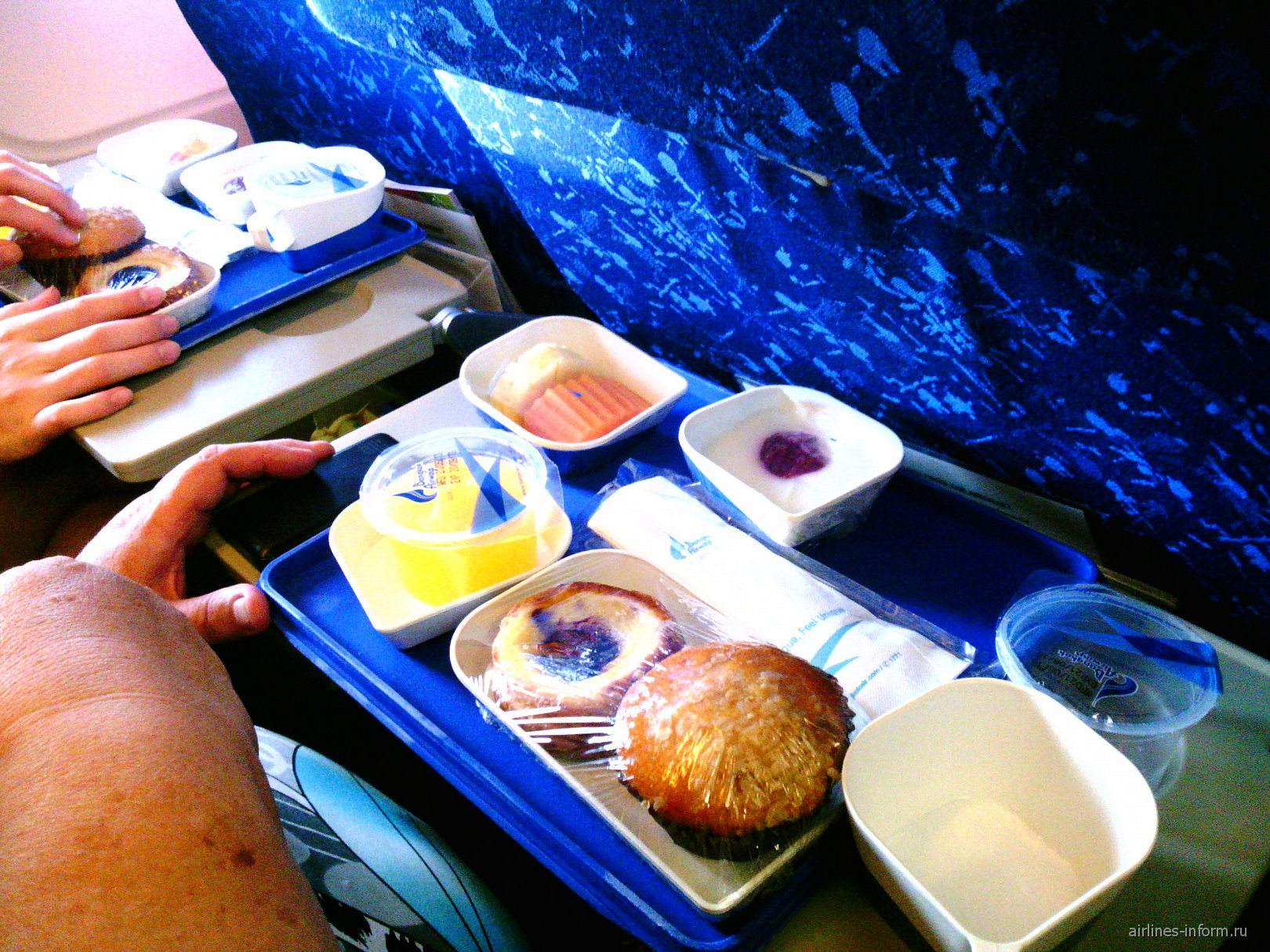 Питание на рейсе Бангкок-Самуи Бангкокских авиалиний