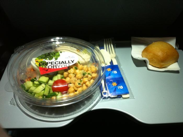 Питание на рейсе Israir Тель-Авив - Рим