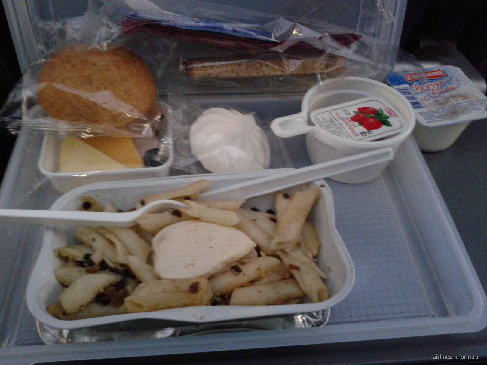 Питание на рейсе авиакомпании Аэрофлот Москва-Анталья