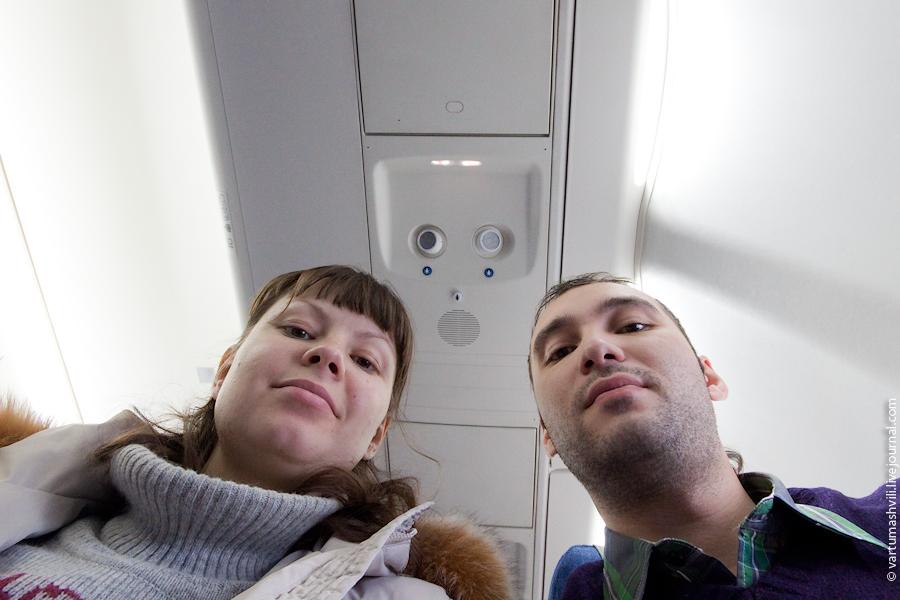 Салон самолета Сухой Суперджет-100