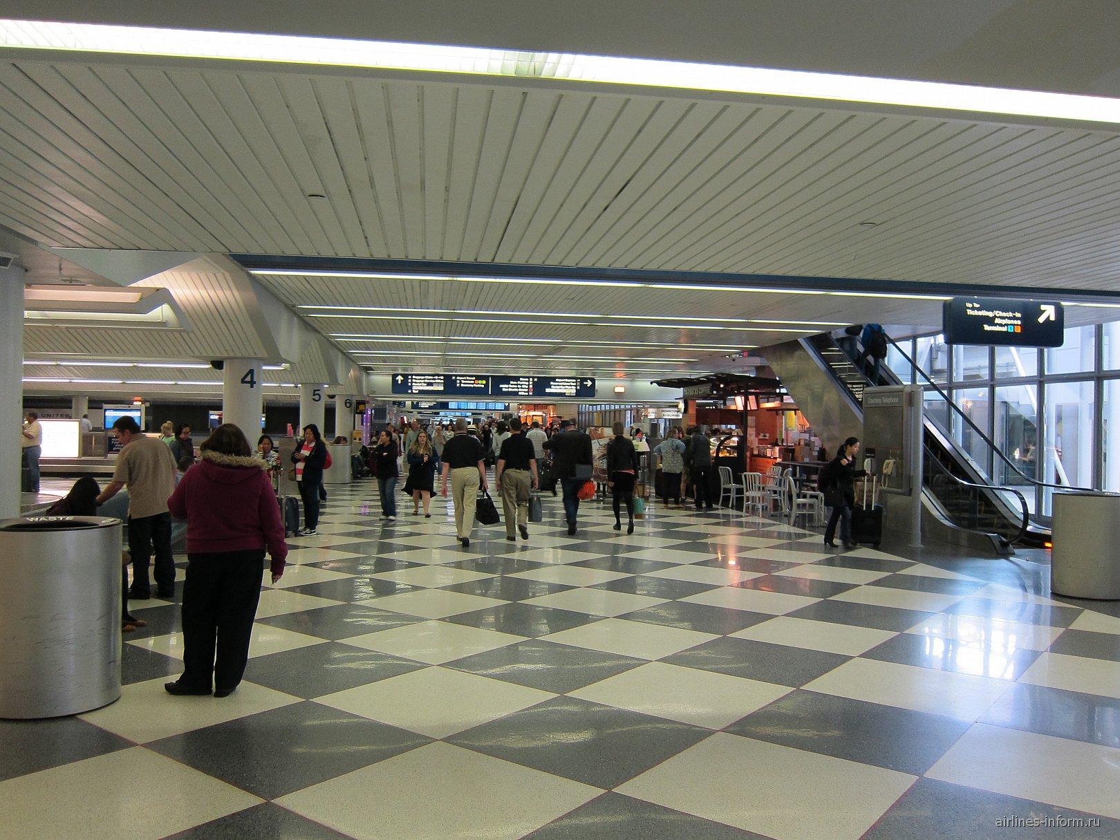Зал выдачи багажа в аэропорту Чикаго О'Хара