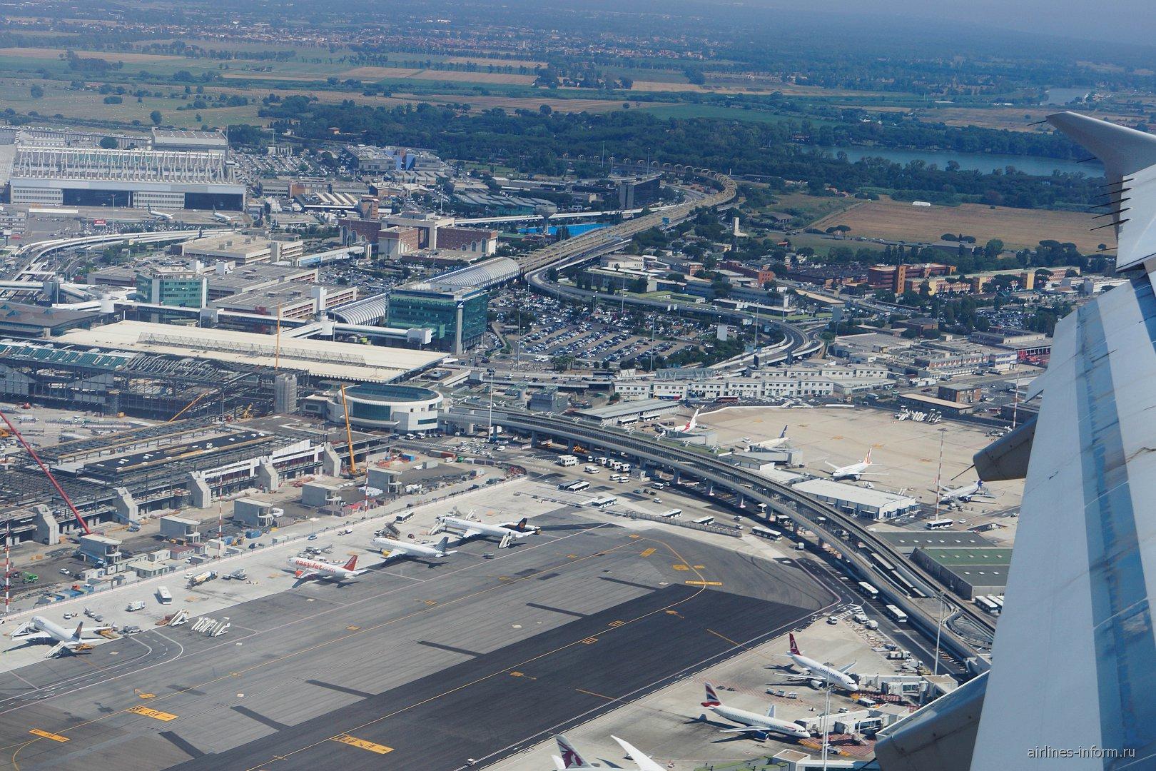 Взлет из аэропорта Рим Фьюмичино
